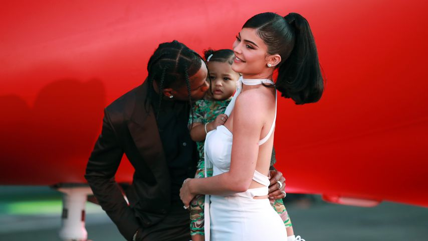 Travis Scott, Stormi Webster und Kylie Jenner