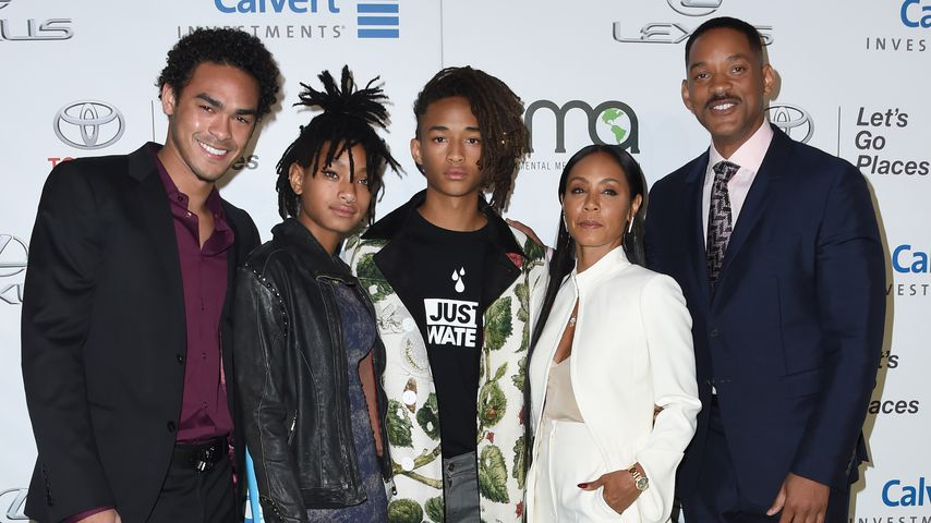 Trey Smith, Willow Smith, Jaden Smith, Jada Pinkett-Smith aund Will Smith im Oktober 2016