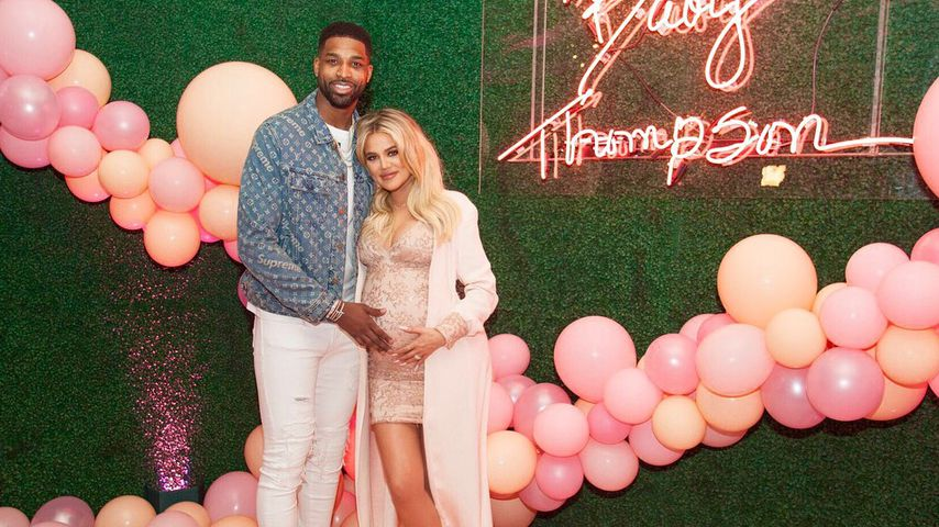 Tristan Thompson und Khloe Kardashian auf ihrer Baby-Party im März 2018