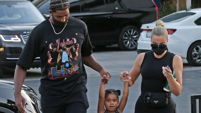 Tristan Thompson und Khloé Kardashian mit Tochter True in Los Angeles, September 2021