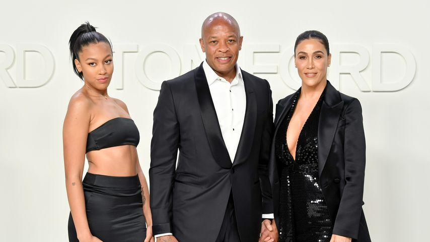 Truly Young, Dr. Dre und Nicole Young bei der Tom Ford Aw20 Show 2020