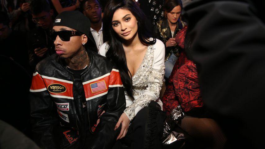 Tyga und Kylie Jenner bei der Philipp-Plein-Show auf der New York Fashion Week 2017