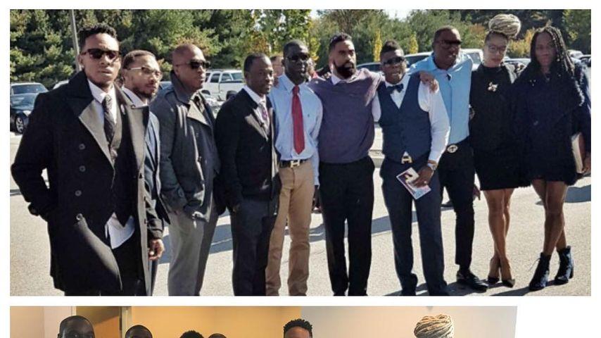Tyson Gay, Familie und Freunde bei der Trauerfeier seiner Tochter Trinity