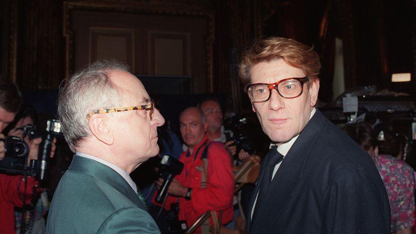 Unternehmer Pierre Bergé und Designer Yves Saint Laurent