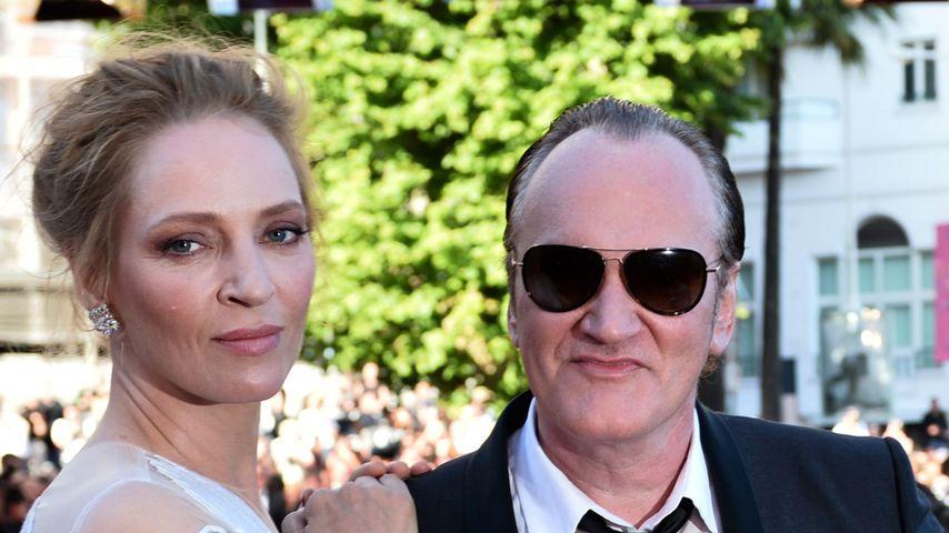 US-Schauspielerin Uma Thurman und Regisseur Quentin Tarantino