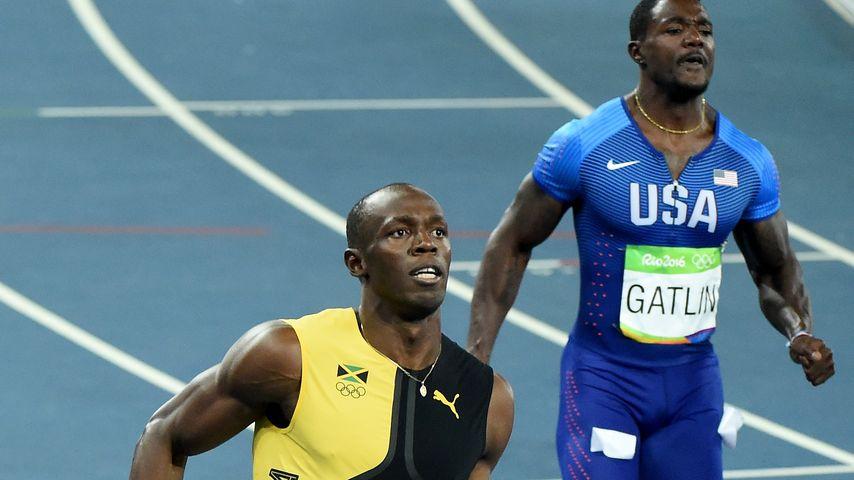 Usain Bolt (l.) und Justin Gatlin beim 100-Meter-Finale bei Olympia in Rio