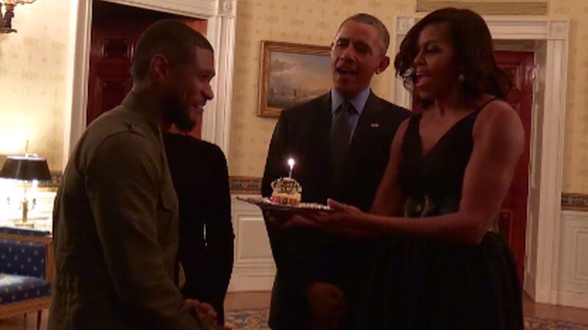 Barack Obama, Michelle Obama und Usher