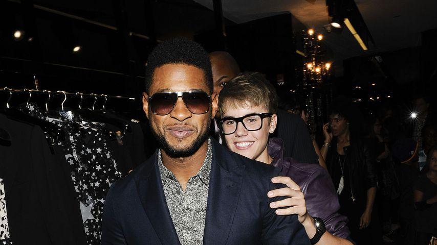 Usher und Justin Bieber 2008