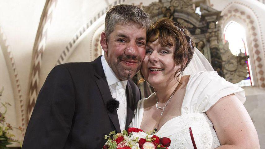 Uwe und Iris Abel bei ihrer Hochzeit im Jahr 2013