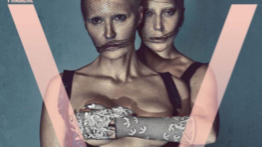 Busengrapscher: Lady Gaga hat auf V-Cover alles im Griff!