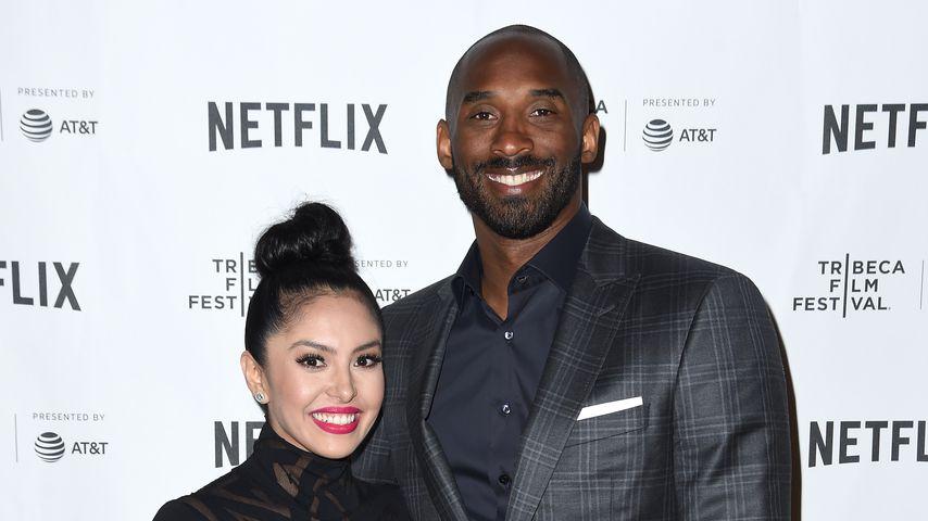 Vanessa Bryant mit ihrem Mann Kobe, April 2017