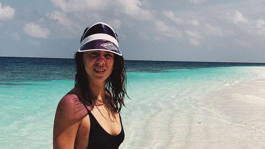Vanessa Mai während ihrer Flitterwochen auf den Malediven