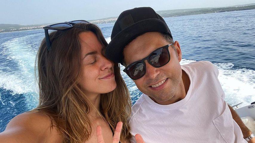 Vanessa Mai und ihr Mann Andreas Ferber im Juni 2021
