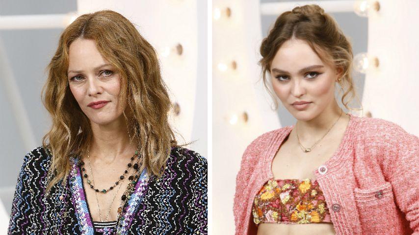 Tweed-Look: Vanessa Paradis und Tochter Lily-Rose in Paris