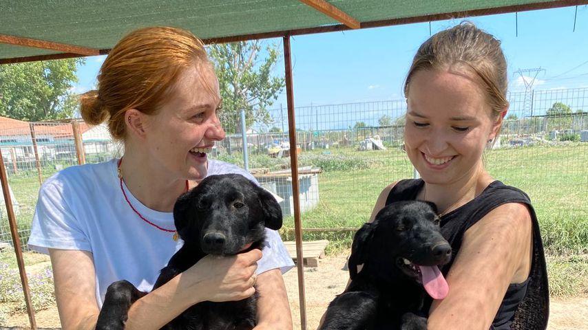Vanessa Tamkan im Hundegarten Serres, Griechenland