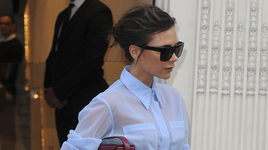Victoria Beckham beim Verlassen ihre Shops in London