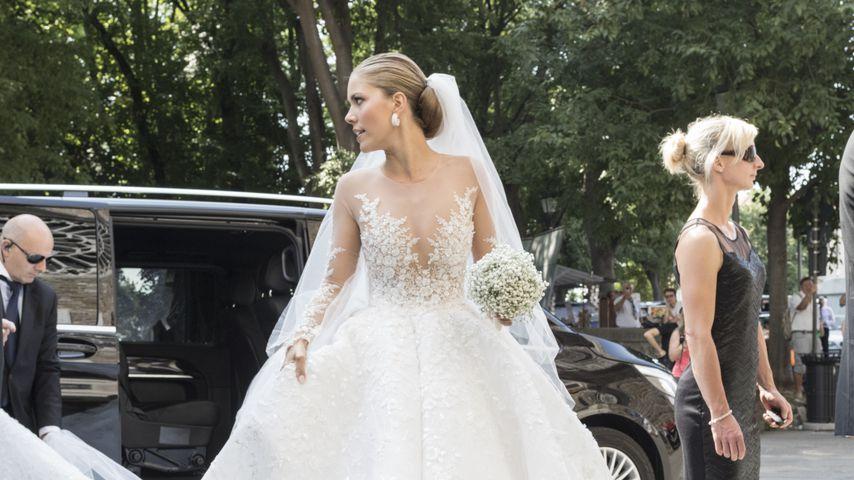 Weißer Traum: ER steckt hinter Vicky Swarovskis Brautkleid
