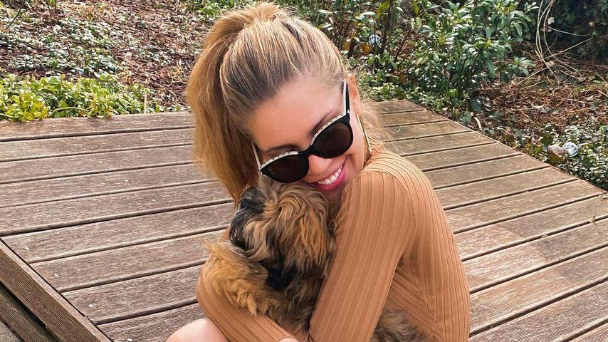 Victoria Swarovski mit ihrem Hund Winnie