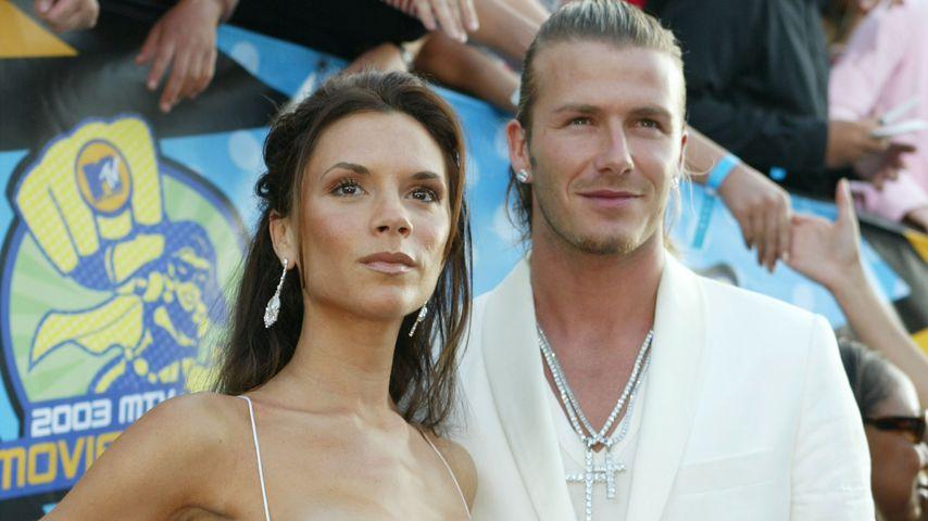 Victoria und David Beckham im Jahr 2003
