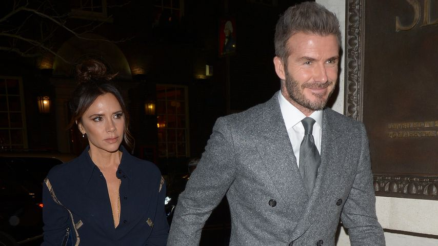 Victoria und David Beckham beim GQ Fashion Week Men's Dinner in London