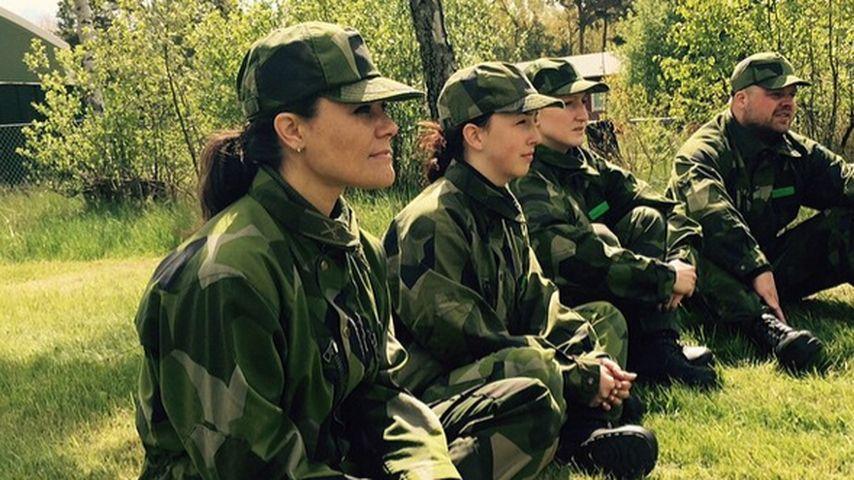 Military-Look: Victoria von Schweden im Tarnanzug