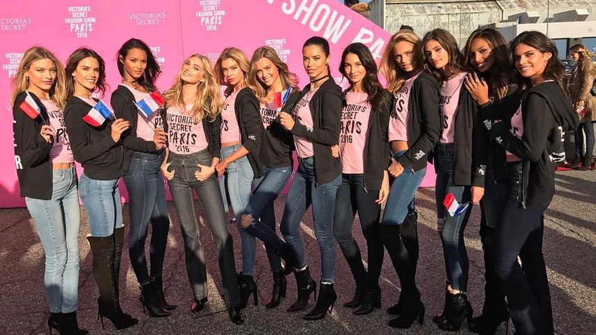 Victoria's Secret Models auf dem Weg nach Paris zur Victoria's Secret Fashion Show 2016