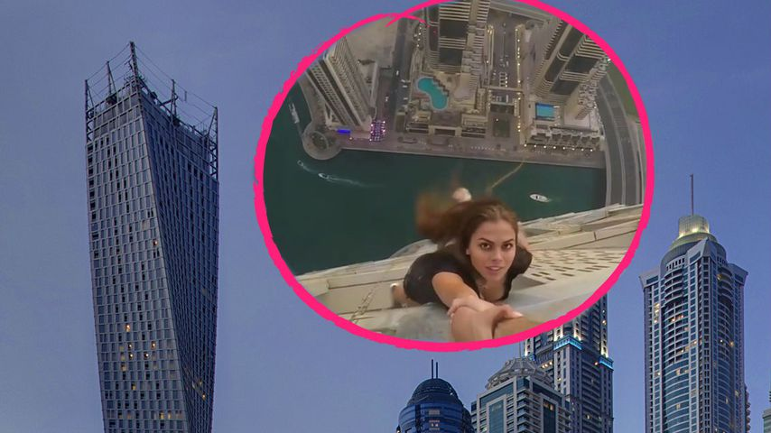 Model baumelt von Wolkenkratzer – jetzt gibt's Ärger!