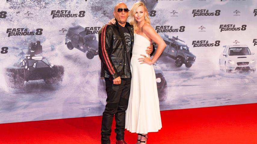 """Vin Diesel und Charlize Theron bei der Premiere von """"Fast and Furious 8"""" in Berlin 2017"""