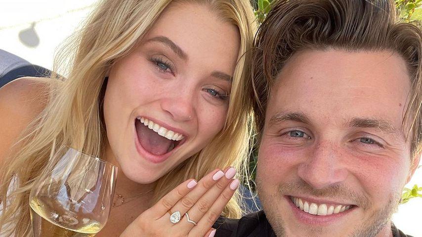 Süß: Virginia Gardner und Jed Elliott haben sich verlobt