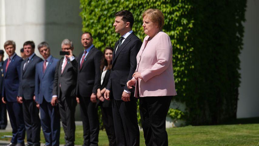 Volodymyr Zelensky und Angela Merkel in Berlin, Juni 2019