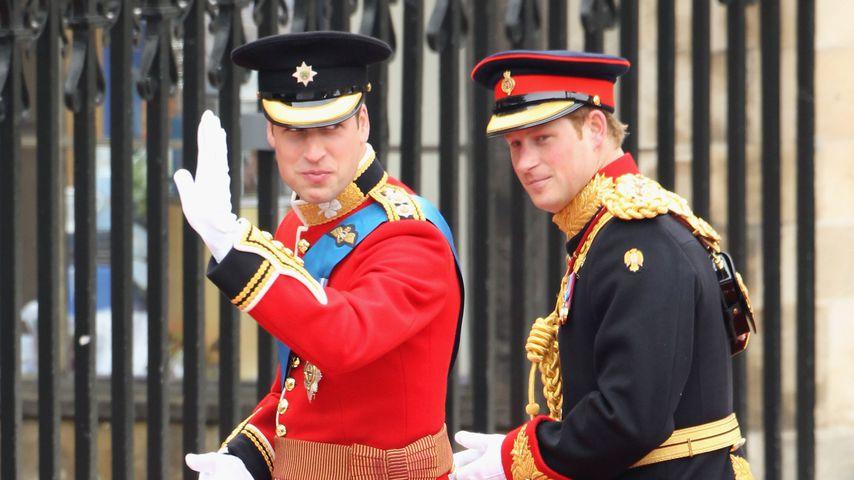 Prinz William und Trauzeuge Prinz Harry