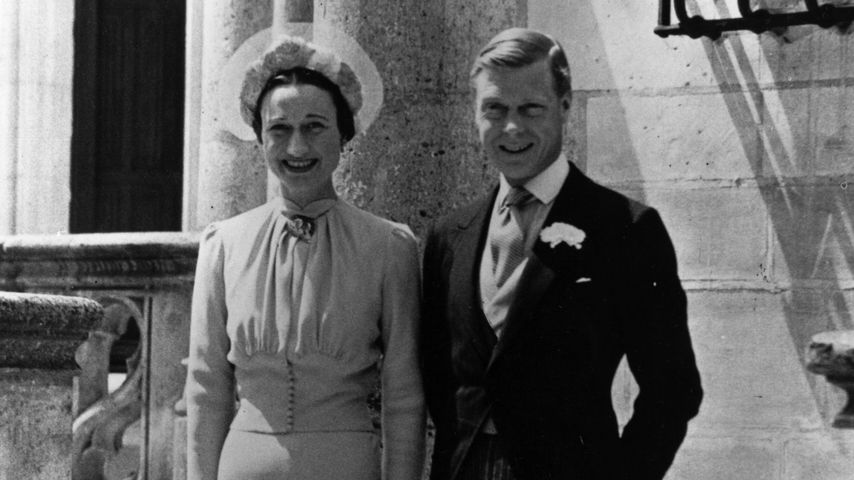 Wallis Simpson und Edward VIII. an ihrem Hochzeitstag