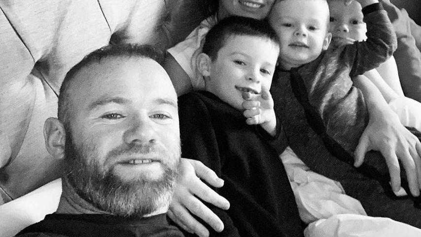Wayne Rooney mit seiner Familie