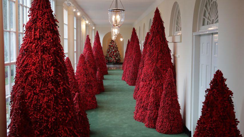Weihnachtsdekoration im Weißen Haus