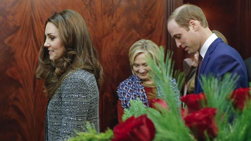 Herzogin Kate, Prinz William und Hillary Clinton