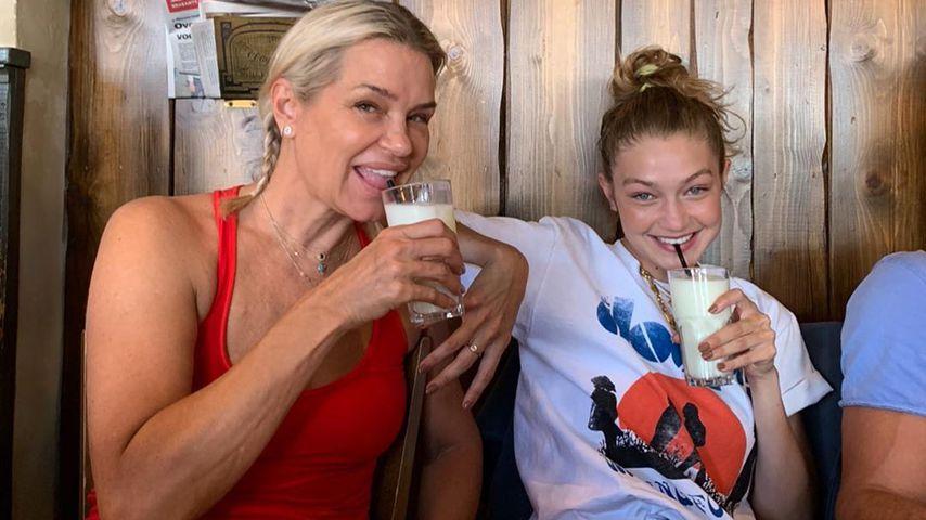 Yolanda Hadid mit Tochter Gigi