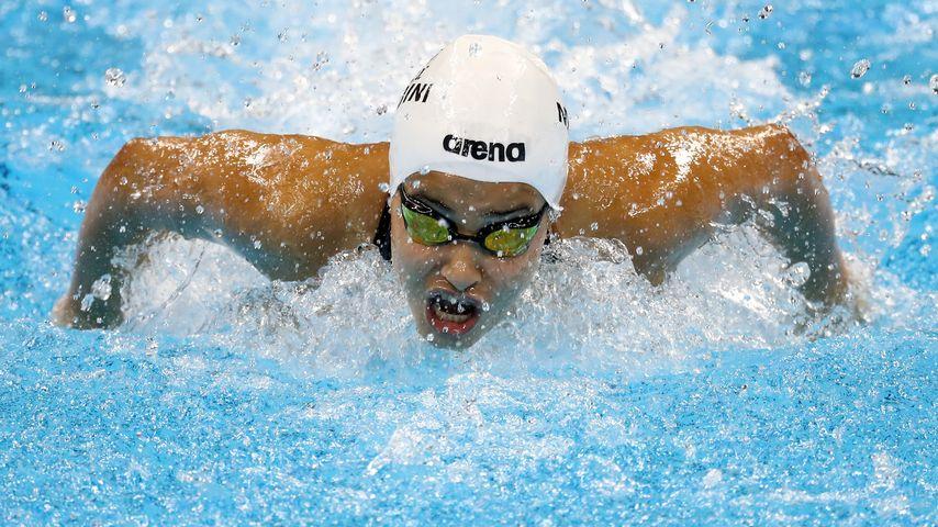 Yusra Mardini schwimmt bei den Olympischen Spielen