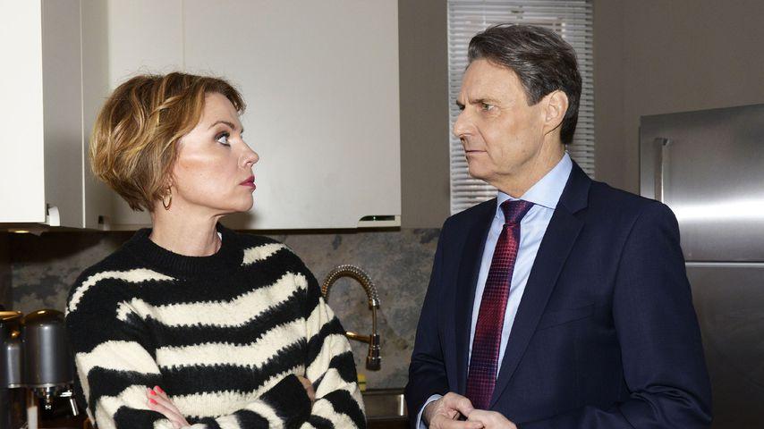 """Yvonne (Gisa Zach) und Jo Gerner (Wolfgang Bahro) in einer Szene bei """"Gute Zeiten, schlechte Zeiten"""""""