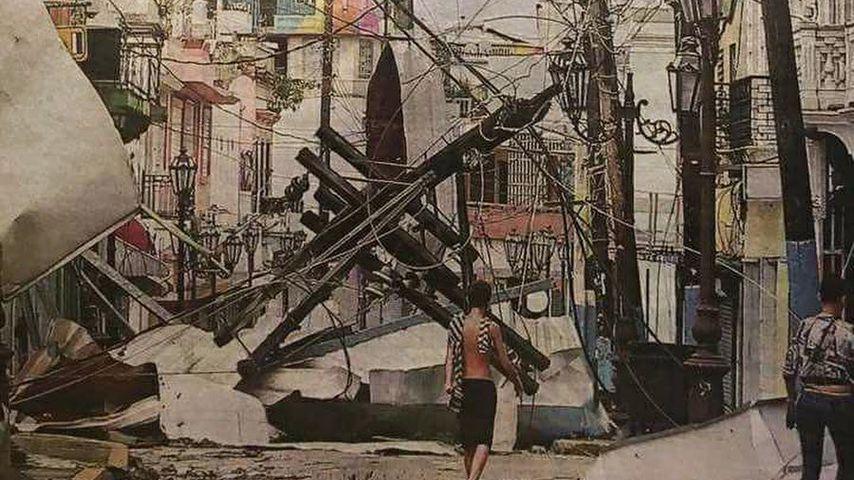 Bethenny Frankels Foto von einem zerstörten Straßenzug in Puerto Rico