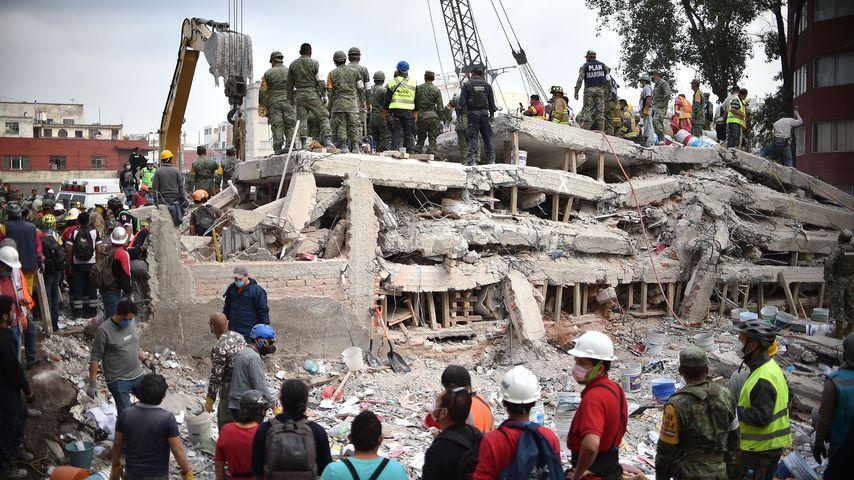 Zerstörungen des Erdbebens in Mexiko-Stadt
