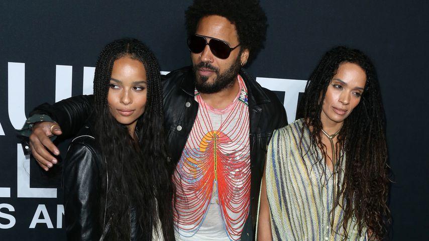 Zoe Kravitz, Lenny Kravitz und Lisa Bonet in Los Angeles 2016