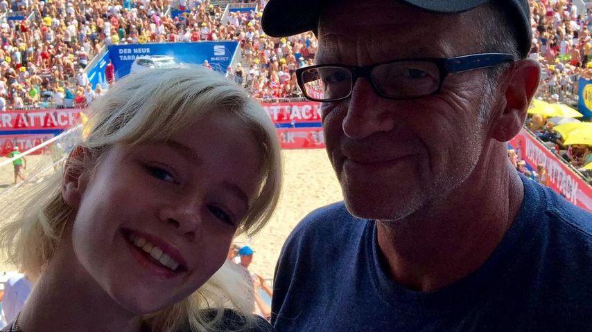 Zoe Saip und ihr Papa Mike