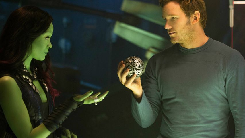 "Zoe Saldana und Chris Pratt in ""Guardians of the Galaxy"""