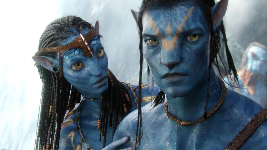 "Zoe Saldana und Sam Worthington in ""Avatar"""