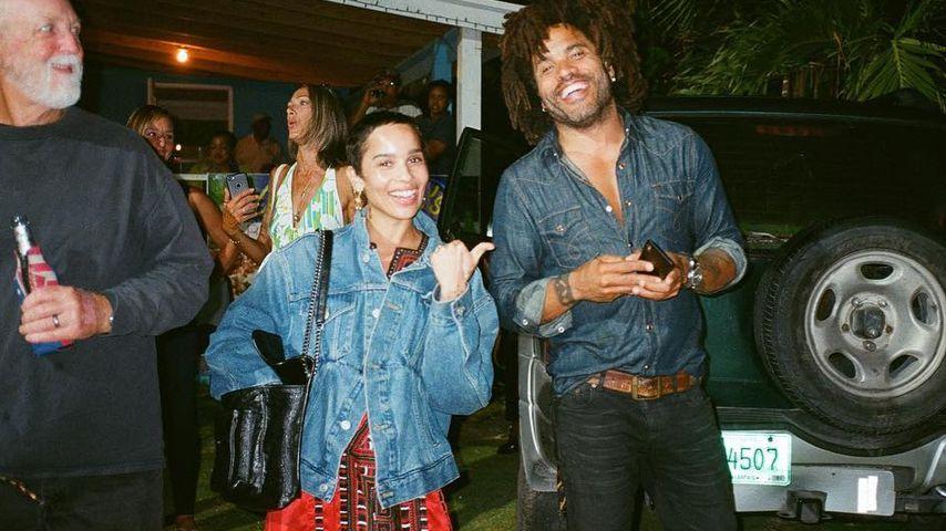 Zoe und Lenny Kravitz