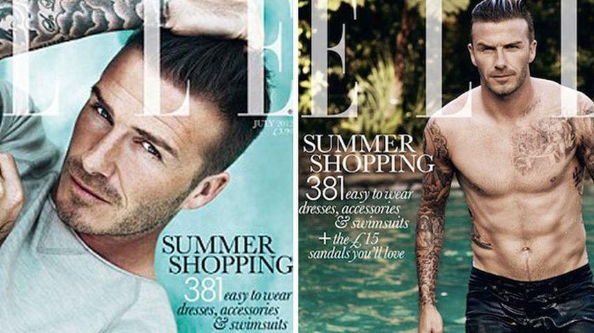Vorsicht, heiß! David Beckham auf dem Elle-Cover