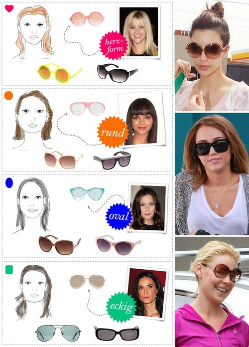 Sonnenbrille Damen Schmales Gesicht