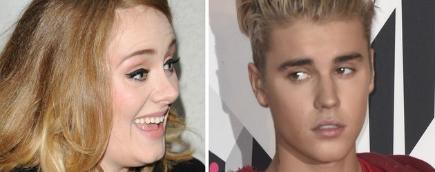 Justin Bieber und Adele Adkins
