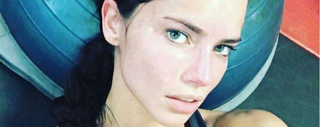 Adriana Lima nach ihrem Workout
