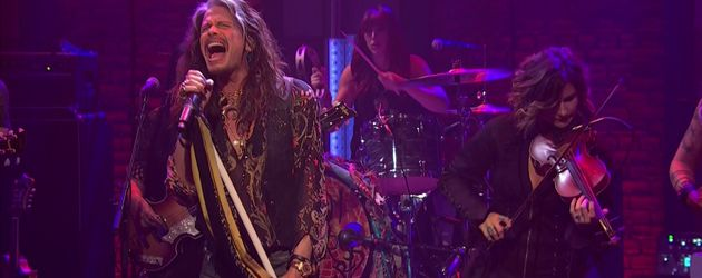 """Aerosmith""-Frontmann Steven Tyler bei ""Late Night With Seth Meyers"""